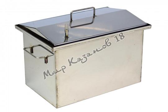 Коптильня 40х25х25 см с гидрозатвором 2 мм Крышка домиком