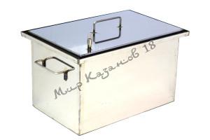 Коптильня 40х25х25 см с гидрозатвором 2 мм Плоская крышка