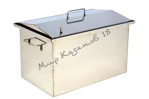 Коптильня 50х30х30 см с гидрозатвором 2 мм Крышка домиком