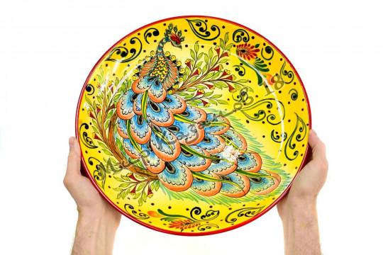 Ляган керамический 38 см Жар-птица