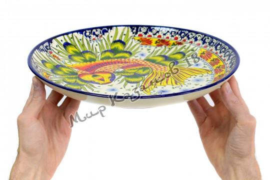 Ляган керамический 32 см Золотая рыбка