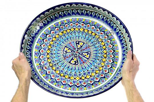Ляган керамический 45 см Синий