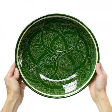 Ляган керамический 32 см Зеленый карандаш