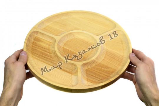 Менажница + Разделочная доска диаметр 30 см Дерево