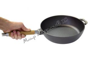 Сковорода-сотейник чугунный BIOL 26 см