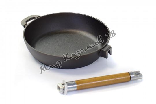 Сковорода-сотейник чугунный BIOL 24 см
