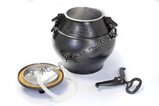 Афганский казан (графит) 20 л + подарок (силиконовая прокладка)