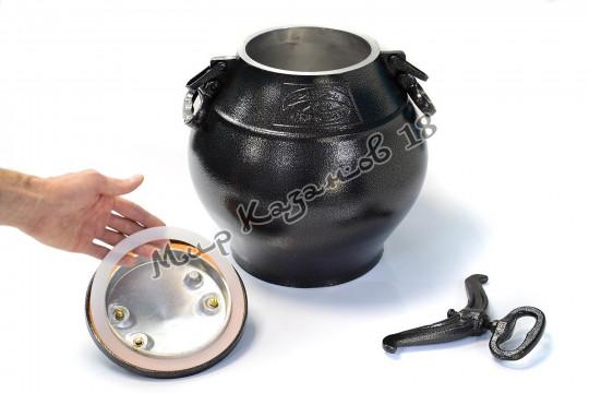 Афганский казан (графит) 30 л + подарок (силиконовая прокладка)
