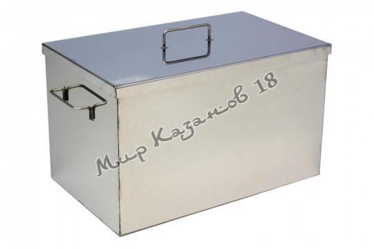Коптильня 40х25х25 см без гидрозатвора 2 мм Плоская крышка