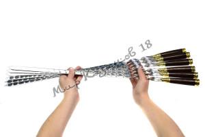 Подарочный набор плоских шампуров (Патроны) 6 шт 45 см