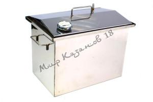 Коптильня (универсальная) 40х25х30 см с гидрозатвором 2 мм Крышка домиком
