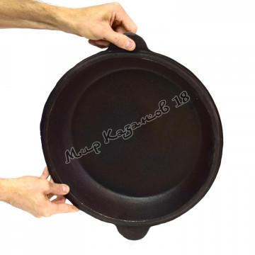 Крышка-сковорода чугунная для 8 л казана, Узбекистан