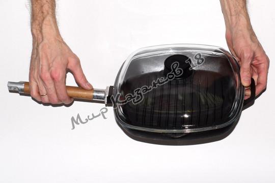 Сковорода-гриль чугунная BIOL 28х28 см