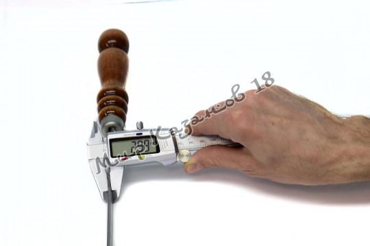 Шампур 40 см Ручка дерево с огнеупорным кольцом